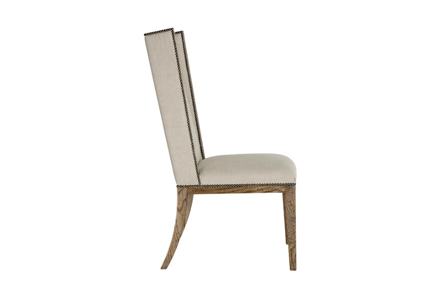 Carmel Oak Side Chairs Throughout Trendy Brushed Oak Short Wing Back Side Chair, Light (View 6 of 20)