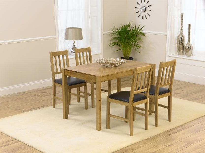 Casa Oak Dining Sets Are Fantastic Value Without Compromising On With Regard To Recent Oak Dining Tables And 4 Chairs (View 3 of 20)