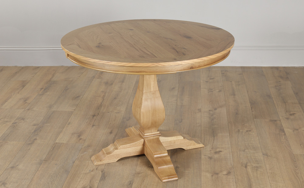Cavendish Round Oak Dining Table – 100cm (View 12 of 20)