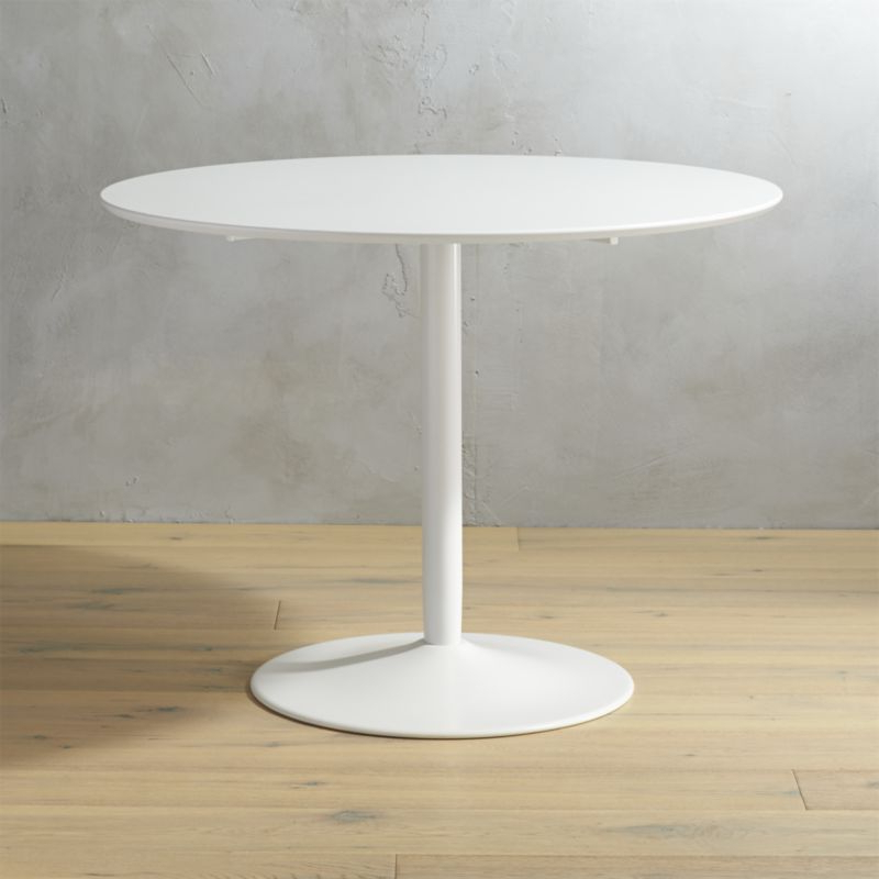 Cb2 Pertaining To Small Round White Dining Tables (Gallery 5 of 20)