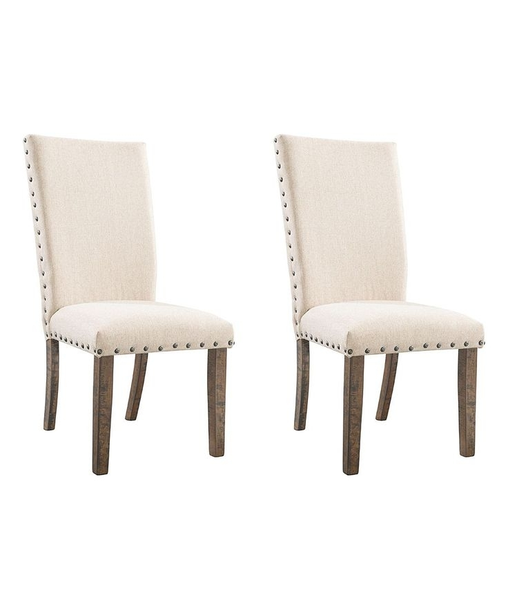 Chandler 7 Piece Extension Dining Sets With Fabric Side Chairs For Recent Cream Dex Side Chair – Set Of Two (View 2 of 20)