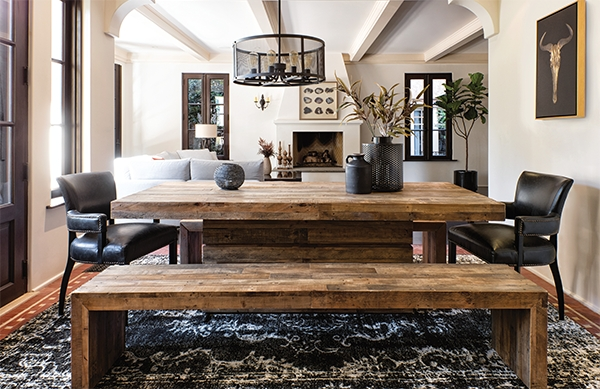 Chandler 7 Piece Extension Dining Sets With Fabric Side Chairs In Most Popular Rustic + Refined = Villa Sonoma – Living Spaces Email Archive (View 4 of 20)