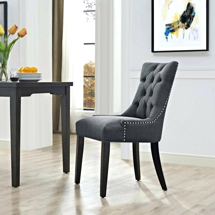 Chandler 7 Piece Extension Dining Sets With Fabric Side Chairs Within Most Up To Date Material Dining Room Chairs Chandler 7 Piece Extension Dining Set W (View 7 of 20)