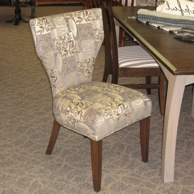 "Chandler Fabric Side Chairs In Widely Used 48"" X 72"" Chandler Dining Table With 4 12"" Leaves, Set Includes  (View 6 of 20)"