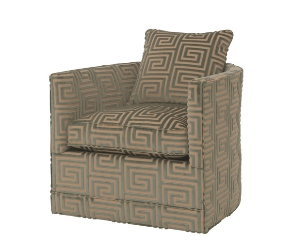 Chandler Swivel Chair U1330 1 – Chaddock, Quick Ship Collection Regarding Widely Used Chandler Fabric Side Chairs (View 7 of 20)