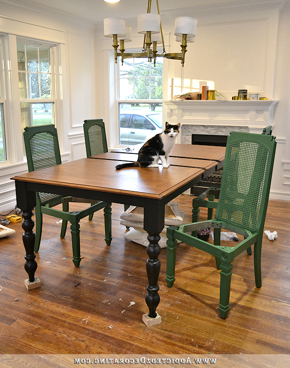 Change Of Plans – Black Table, Green Chairs Pertaining To Most Current Green Dining Tables (Gallery 17 of 20)