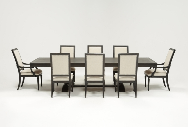 Chapleau Extension Dining Tables Throughout Most Current Chapleau 9 Piece Extension Dining Set (View 1 of 20)