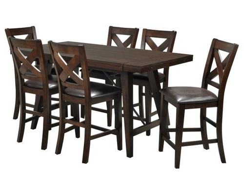 Chapleau Ii 7 Piece Extension Dining Tables With Side Chairs Intended For Recent Dining Room Furniture (View 10 of 20)
