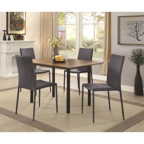 Chapleau Ii 7 Piece Extension Dining Tables With Side Chairs With Most Recent Coaster Adler Stackable Gray/black Dining Chair – Coaster Fine (View 9 of 20)