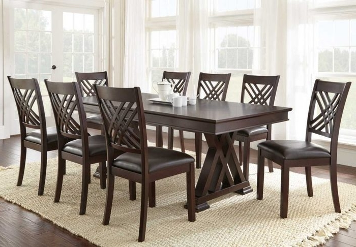 Chapleau Ii 9 Piece Extension Dining Tables With Side Chairs For Most Up To Date Imágenes De 9 Piece Dining Room Sets Cheap (View 4 of 20)