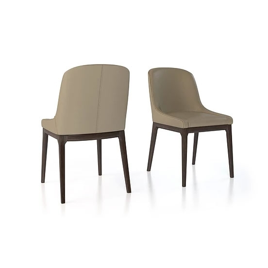 Charcoal Dining Chairs Intended For Most Current Bali Genuine Leather Upholstered Dining Chairital Contempo(Black (View 6 of 20)