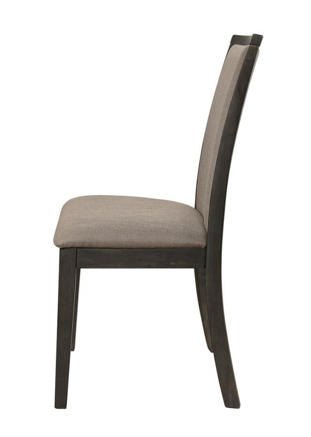 Charcoal Dining Chairs Regarding Fashionable Clarksville Transitional Rubbed Charcoal Dining Chair (Pack Of  (View 7 of 20)