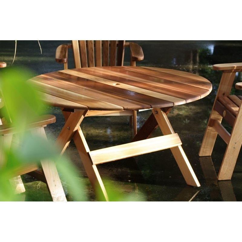 Charlton Home Macie Round Wooden Dining Table (View 17 of 20)