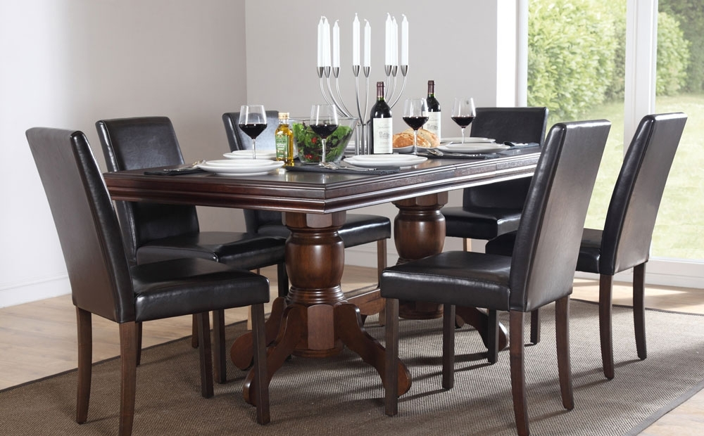 Chatsworth Dining Tables For Well Known Best Black Wood Dining Table With Chatsworth & City Extending Dark (View 3 of 20)