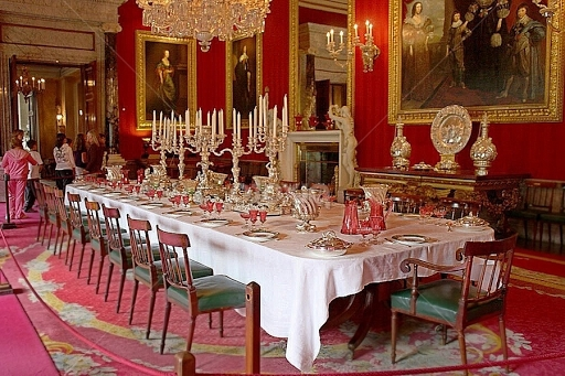 Chatsworth Dining Tables Regarding Newest Luxurious Dining Room At Chatsworth House, England (View 12 of 20)