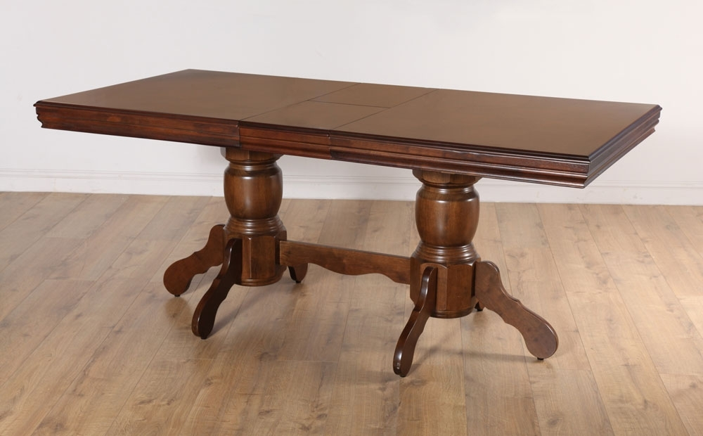 Chatsworth Dining Tables Throughout Widely Used Chatsworth Extending Dark Wood Dining Room Table 150  (View 7 of 20)
