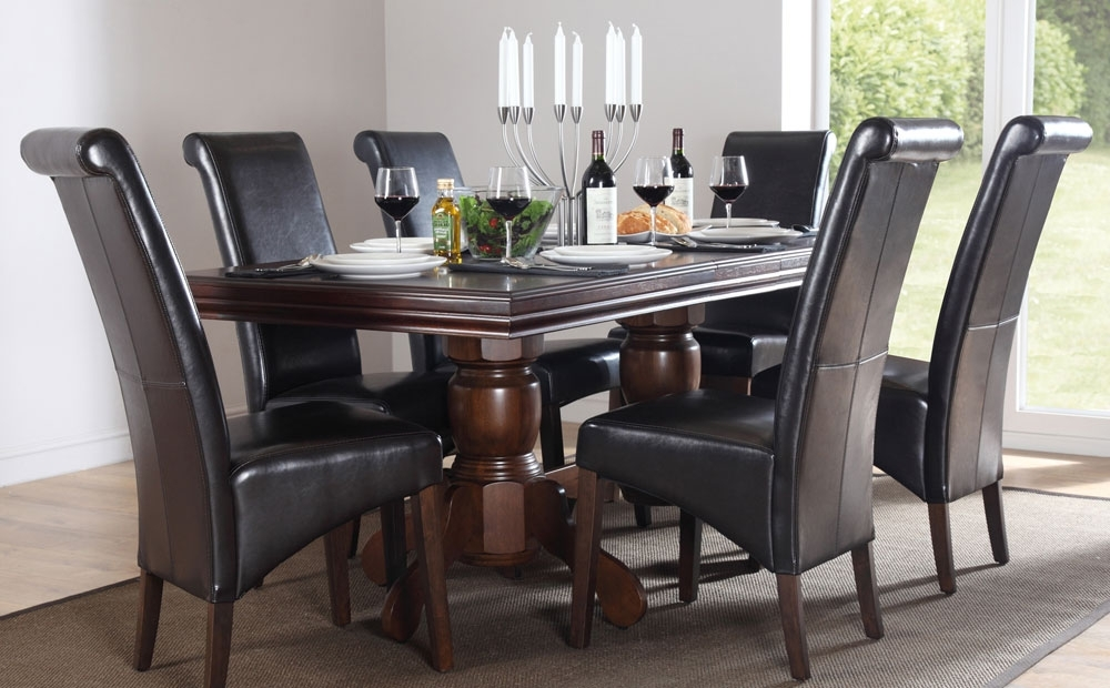 Chatsworth Extending Dark Wood Dining Table And 6 Chairs Set (boston Inside Most Current Chatsworth Dining Tables (View 19 of 20)