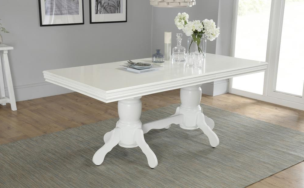 Featured Photo of White Extendable Dining Tables