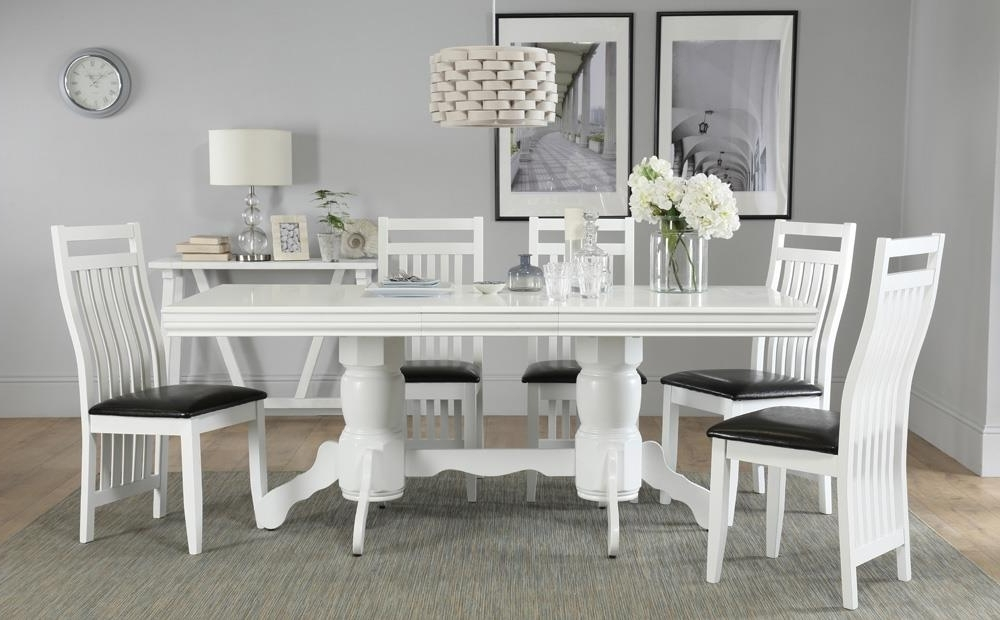 Chatsworth White Extending Dining Table With 6 Java Chairs Only Intended For Most Up To Date Chatsworth Dining Tables (View 11 of 20)