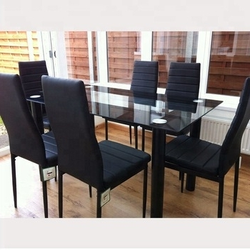 Cheap 6 Chairs Dining Table Set Modern Classic 6 Seater Luxury Glass Regarding Most Recent 6 Seater Glass Dining Table Sets (View 9 of 20)