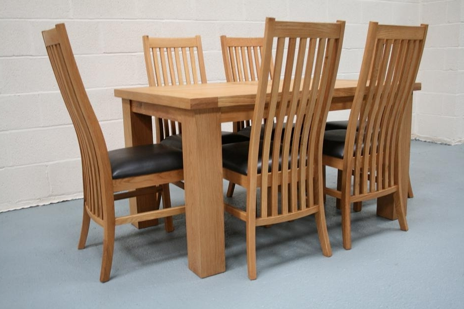 Cheap Dining Tables For Popular Riga Oak Dining Sets (View 5 of 20)