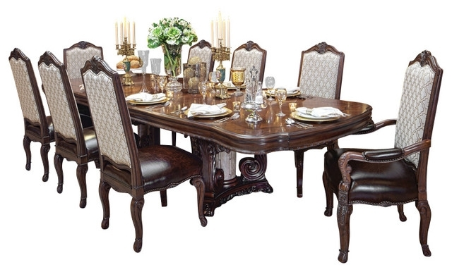 Cheap Dining Tables Sets Throughout Popular Victoria Palace 8 Piece Dining Table Set – Victorian – Dining Sets (View 14 of 20)