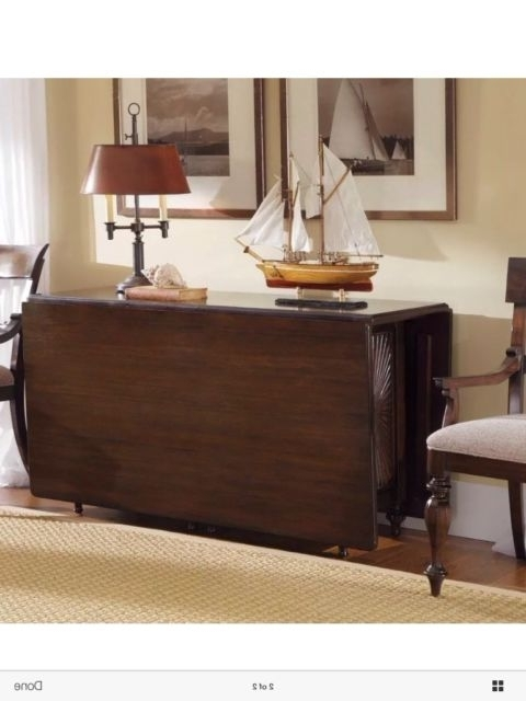 Cheap Drop Leaf Dining Tables With Widely Used Kincaid Moonlight Bay Solid Mahogany Gate Leg Drop Leaf Dining Table (View 8 of 20)