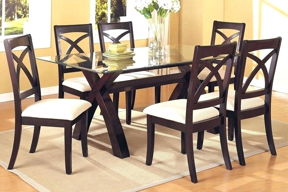 Cheap Glass Dining Table Sets Small For 4 Furniture Round And Chairs Inside 2017 Cheap Glass Dining Tables And 6 Chairs (View 11 of 20)