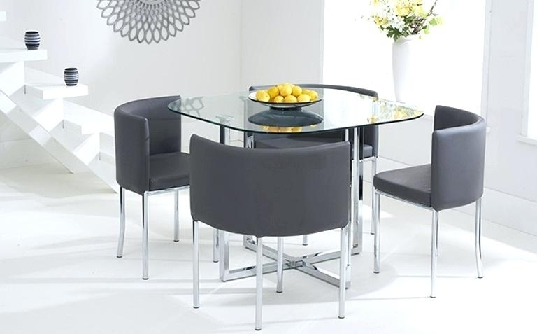 Cheap Glass Dining Tables And 4 Chairs In Popular Furniture Glass Top Dining Table Set 4 Chairs (View 11 of 20)