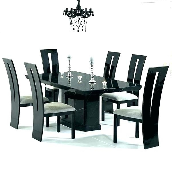 Cheap Glass Dining Tables And 6 Chairs Within Preferred 6 Seat Dining Table 6 Glass Dining Table And Chairs Best Furniture (View 9 of 20)