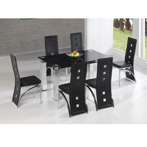 Cheap Heartlands San Francisco Glass Dining Table Set & 6 Chairs For Within Widely Used Cheap Glass Dining Tables And 6 Chairs (View 17 of 20)