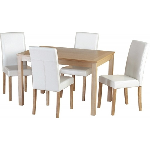 Cheap Oak Dining Tables Pertaining To Latest Cheap Seconique Oakmere Small Oak Dining Table Set 4 Christopher (View 20 of 20)