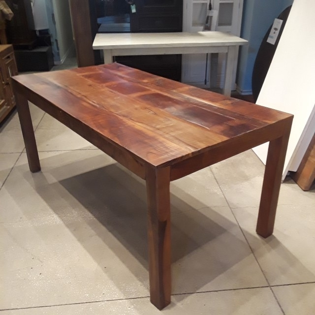 Cheap Reclaimed Wood Dining Tables Within Most Current Reclaimed Wood Dining Table – Nadeau Philadelphia (View 11 of 20)