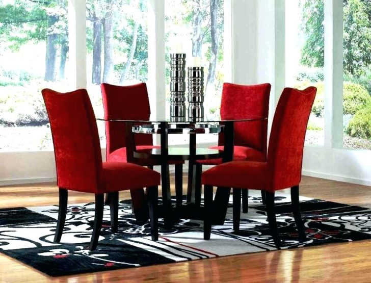 Cheap Round Dining Table And Chairs Tall Kitchen Tables Remarkable Inside 2018 Red Dining Table Sets (View 12 of 20)
