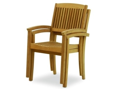 Chelmsford Stacking Arm Chair – Atlanta Teak Furniture With Latest Helms Arm Chairs (View 4 of 20)