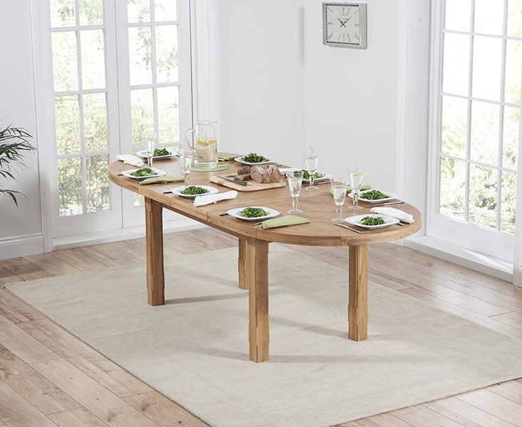 Cheyenne Oval Oak Extending Dining Table Regarding Well Known Oak Extending Dining Sets (View 2 of 20)