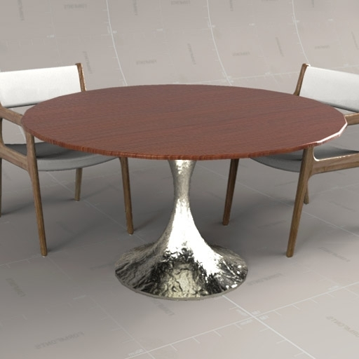 Chichester Dining Tables Regarding Well Known Dakota Circular Table 3d Model – Formfonts 3d Models & Textures (View 18 of 20)