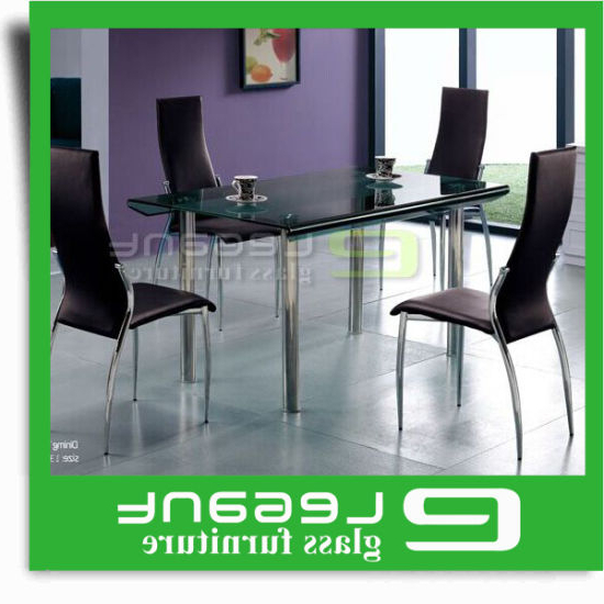 China Long Curved Glass Dining Table On 4 Stainless Steel Legs For Recent Curved Glass Dining Tables (View 1 of 20)