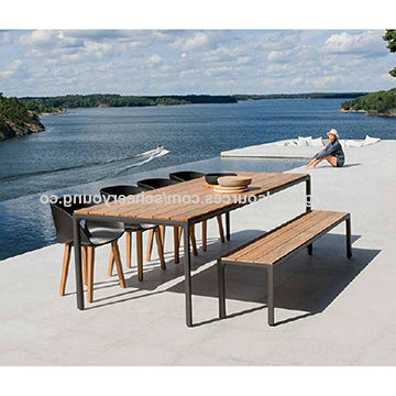 China Teak Wood Dining Table Set Dining Room Restaurant From For Most Recent Outdoor Brasilia Teak High Dining Tables (View 17 of 20)