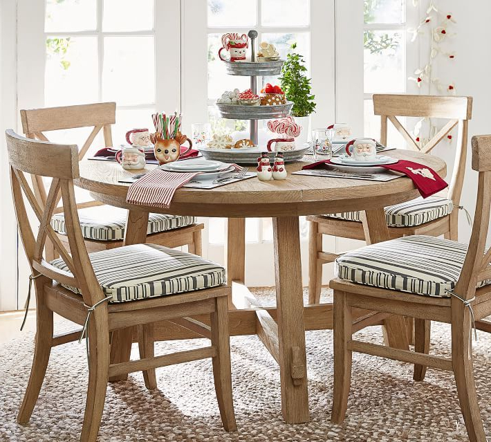 Christmas Inside Fashionable Jaxon Grey 7 Piece Rectangle Extension Dining Sets With Uph Chairs (View 16 of 20)