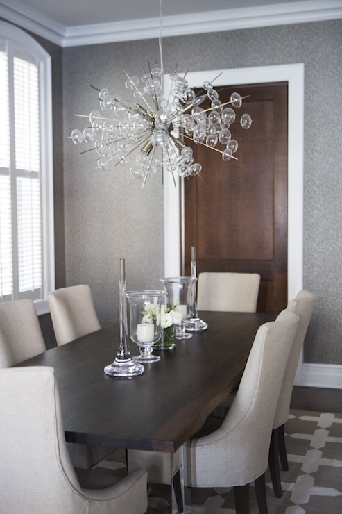 Chrome And Wood Dining Table – Transitional – Dining Room Regarding Recent Chrome Dining Tables And Chairs (View 1 of 20)