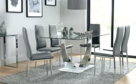 Chrome Dining Room Chairs Glass And Chrome Dining Table And Chairs For Well Liked Chrome Dining Tables And Chairs (View 2 of 20)