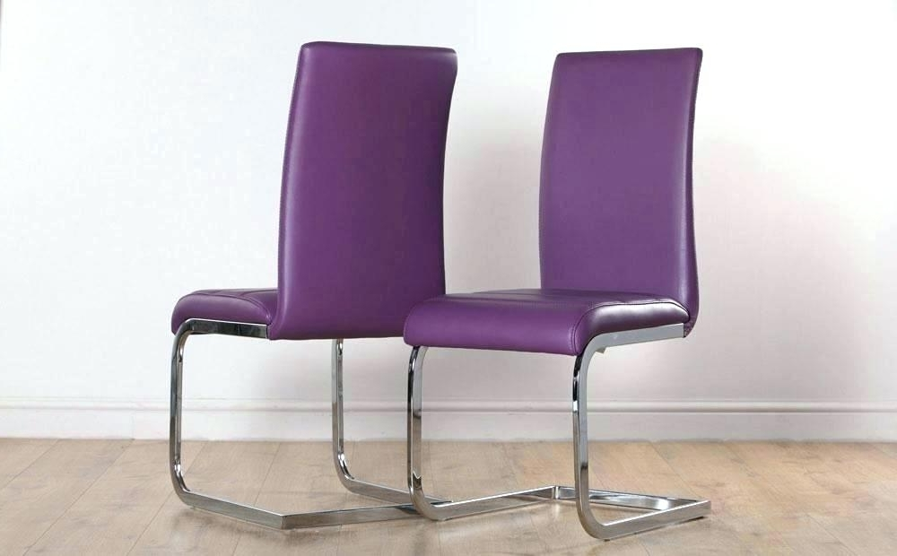 Chrome Dining Room Chairs With Regard To Trendy Purple Dining Room Chair – Rememberdannywayne (View 5 of 20)