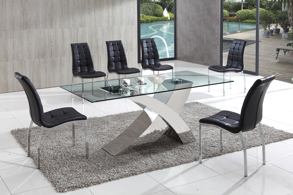 Chrome Glass Dining Tables With Preferred Decorative Ideas For A Glass Dining Table (View 8 of 20)