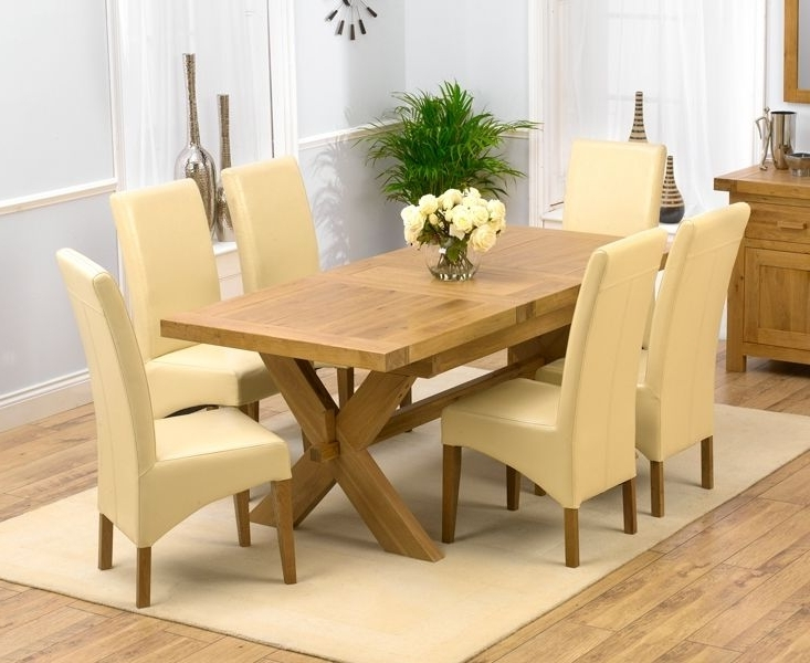 Chunky Solid Oak Dining Tables And 6 Chairs With Regard To Most Recent Chunky Solid Oak Dining Table And 6 Chairs – Go To (View 6 of 20)