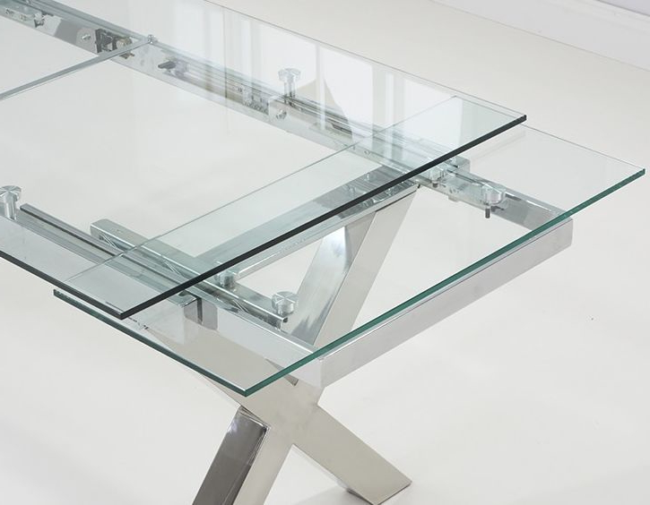 Cilento Glass Extending Dining Table (Gallery 9 of 20)