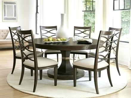 Circular Dining Table For 6 Round Extending And Chairs Seater Sets With Regard To Well Known Black Circular Dining Tables (View 3 of 20)