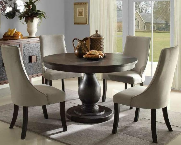 Circular Dining Tables For 4 Intended For Well Known Round Pedestal Dining Table – Ideas, Inspiration – Rilane (View 2 of 20)