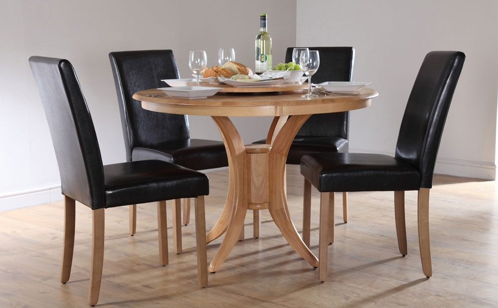 Circular Dining Tables For 4 Within Widely Used Round Dining Table Set For  (View 7 of 20)