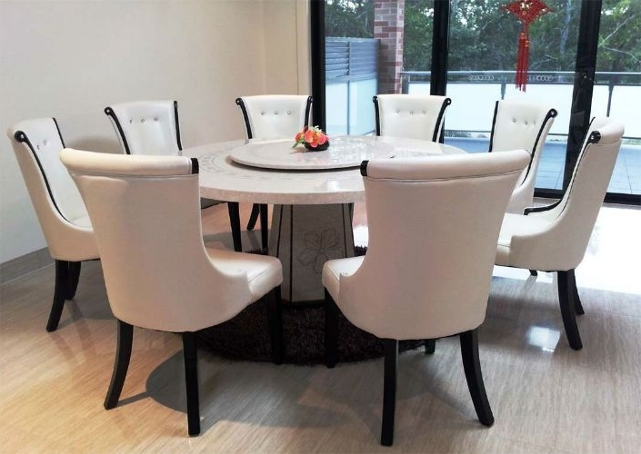 Circular Dining Tables Inside Recent Top 5 Gorgeous White Marble Round Dining Tables (View 4 of 20)